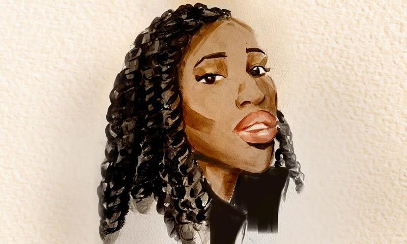 Black women with pretty feet-7770