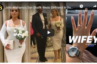 John Mahama's Son Shafik Weds Algerian Girlfriend In Dubai