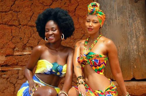 Ghana's Hamamat & Kenya's Huddah Monroe Stun In Amazing African Village Girl Shoot